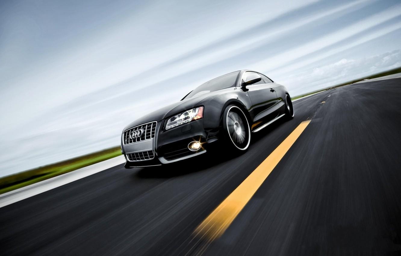 Photo wallpaper road, auto, Audi, Wallpaper