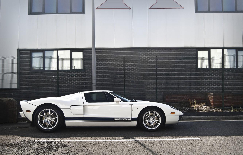Photo wallpaper white, white, sports car, ford, Ford, sportscar
