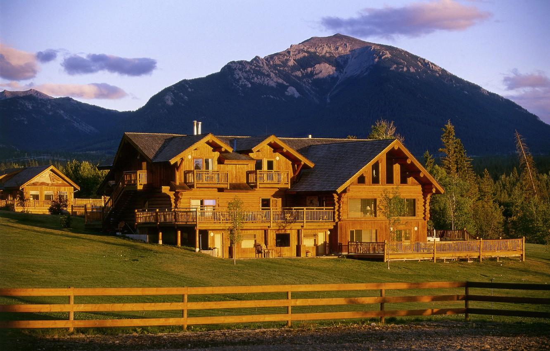 Photo wallpaper landscape, mountains, nature, ranch
