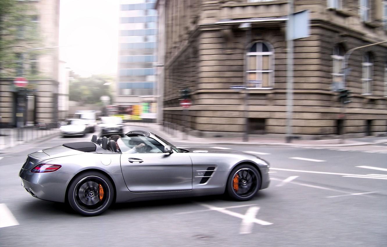 Photo wallpaper Roadster, Mercedes-Benz, AMG, SLS