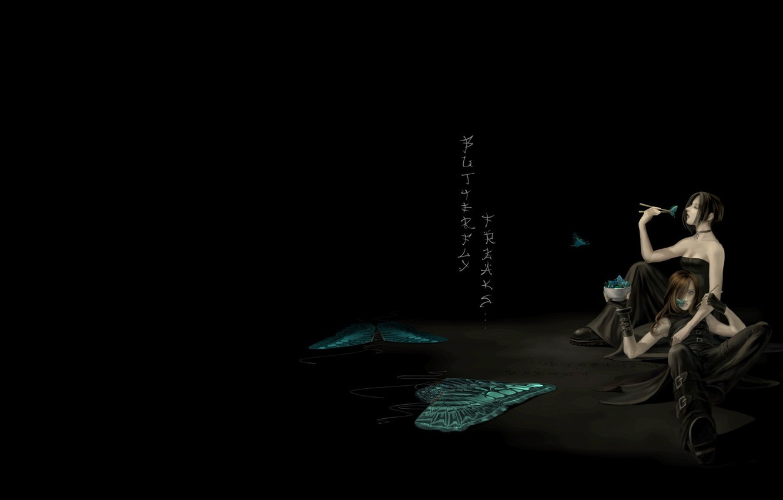 Photo wallpaper butterfly, anime, art, pair, Hashi