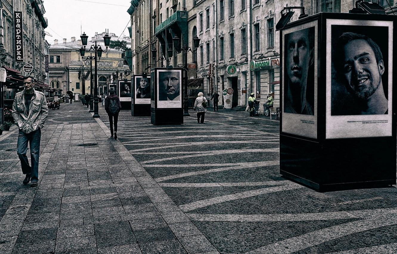 Photo wallpaper the city, Putin, portraits, Klimov