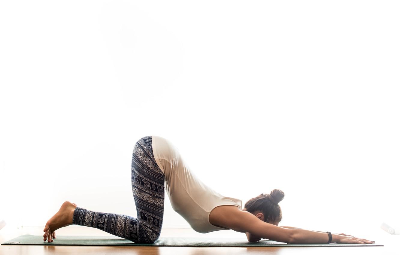 Photo wallpaper girl, pose, gymnastics, yoga