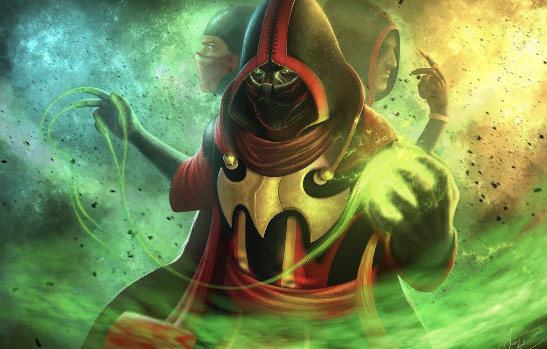 Photo wallpaper fighter, game, Mortal Kombat, ninja, fighting, skins, Ermac