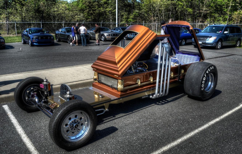 Photo wallpaper Parking, the coffin, Custom Car