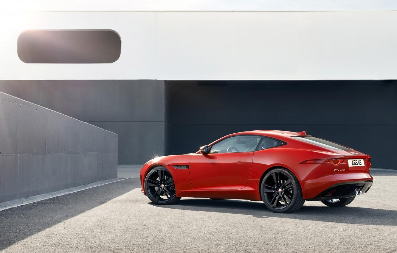Photo wallpaper car, Jaguar, red, F-Type, R Coupe