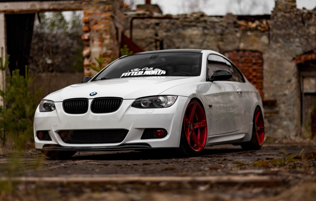Photo wallpaper BMW, White, E92