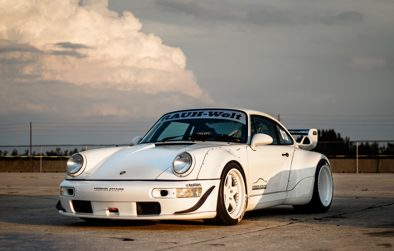Photo wallpaper Porsche, 964, Turbo, Track, RWB, Function, ADV5