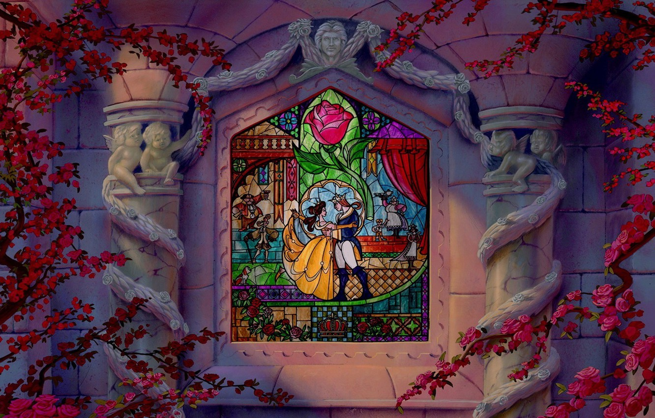 Wallpaper Beauty And The Beast Beauty And The Beast Window