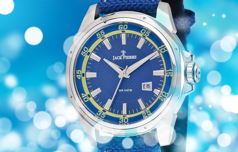 Photo wallpaper blue, Watch, Jack Pierre