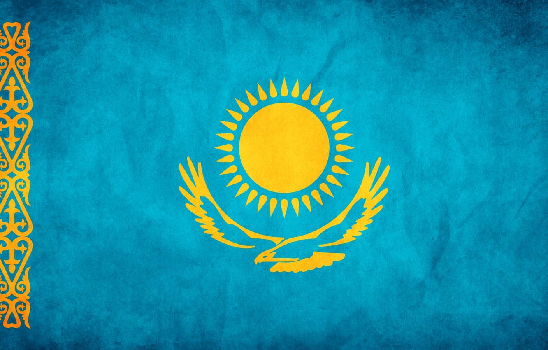 Photo wallpaper freedom, flag, Kazakhstan