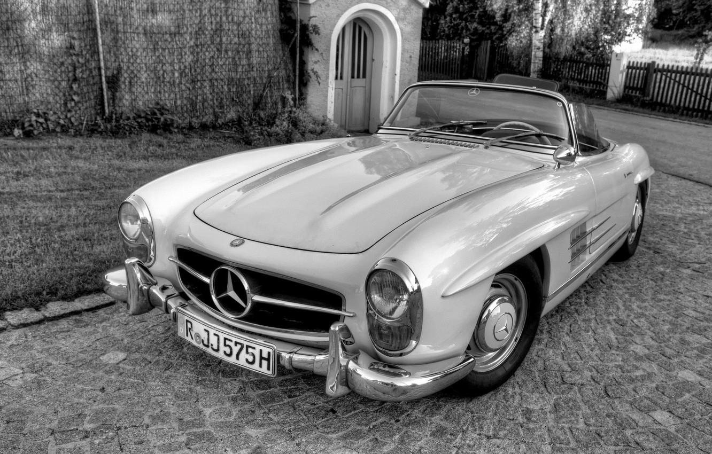 Photo wallpaper retro, Mercedes, convertible
