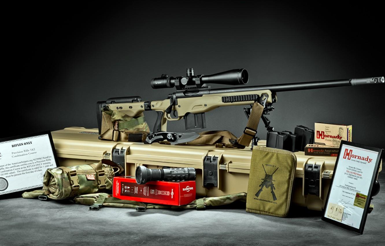 Photo wallpaper sniper rifle, Stiller Tac 30 AW build, Spartan Precision Rifles
