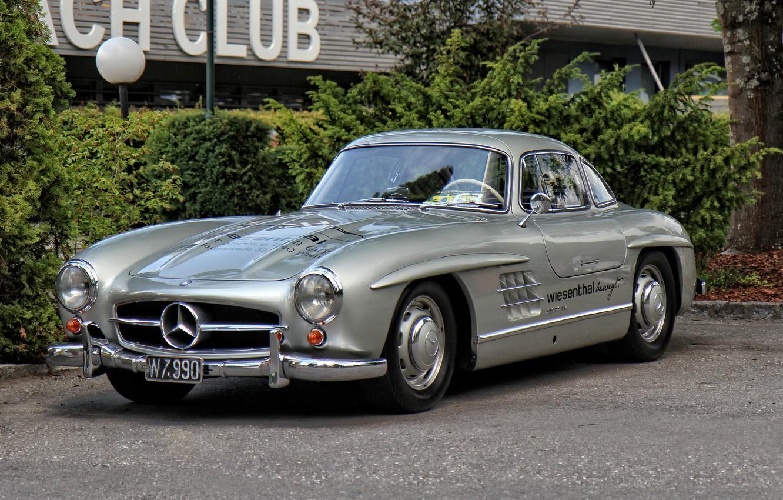 Photo wallpaper Mercedes, retro, old, 300SL