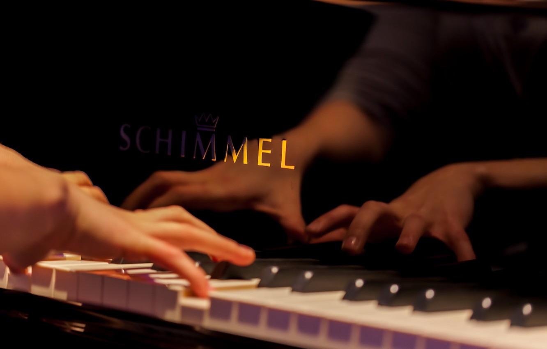 Photo wallpaper music, hands, piano