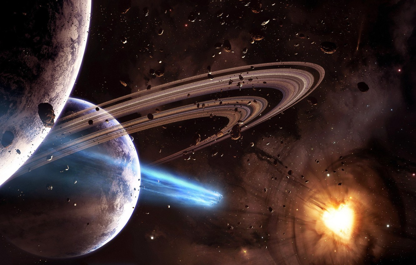 Photo wallpaper star, planet, 152, asteroid