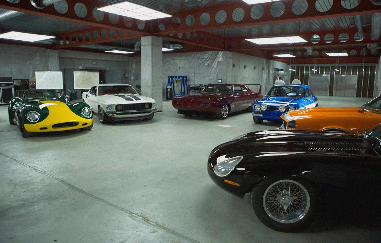 Photo wallpaper machine, garage, sports cars, Furious 6, Dodge Daytona, fast and furious 6