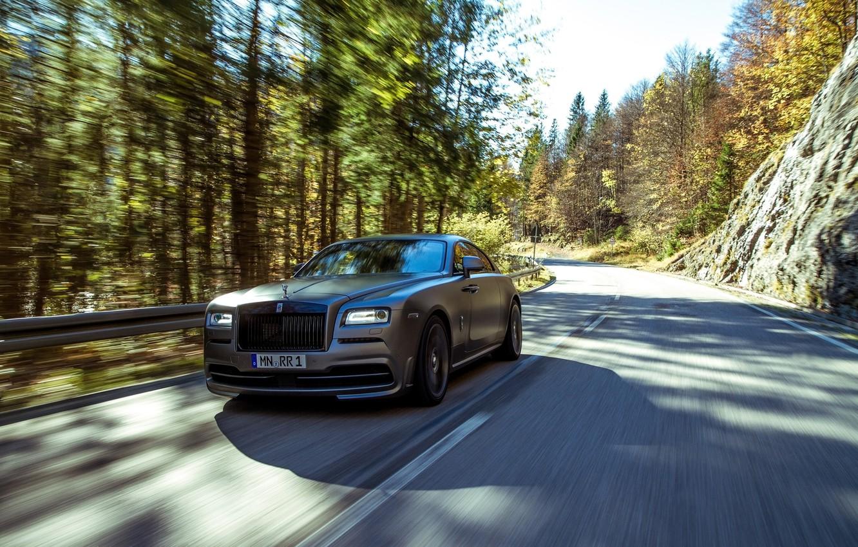 Photo wallpaper tuning, Rolls Royce, in motion, rolls Royce, Wraith, Spofec