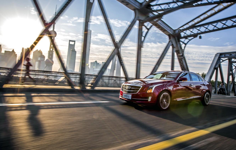 Photo wallpaper Cadillac, Cadillac, ATS, 2015