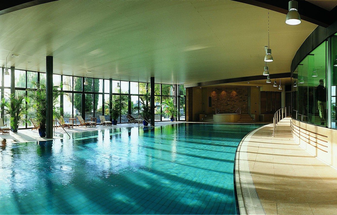 Photo wallpaper design, space, style, interior, pool, the room