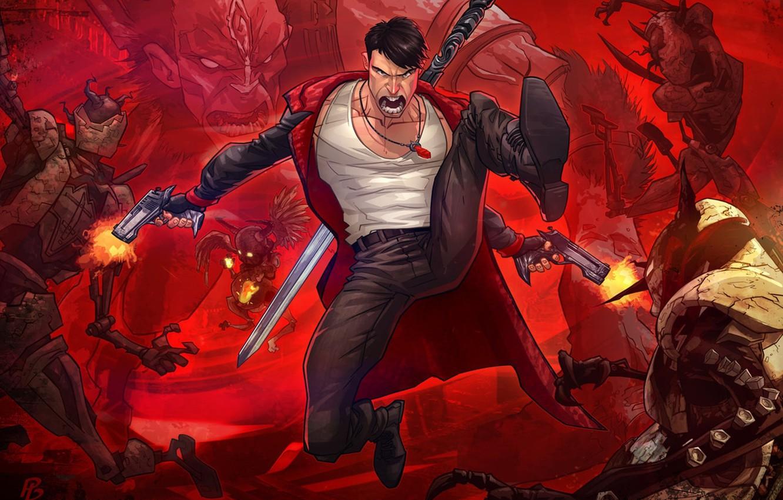 Wallpaper Dante Dante Capcom Devil May Cry Patrick Brown