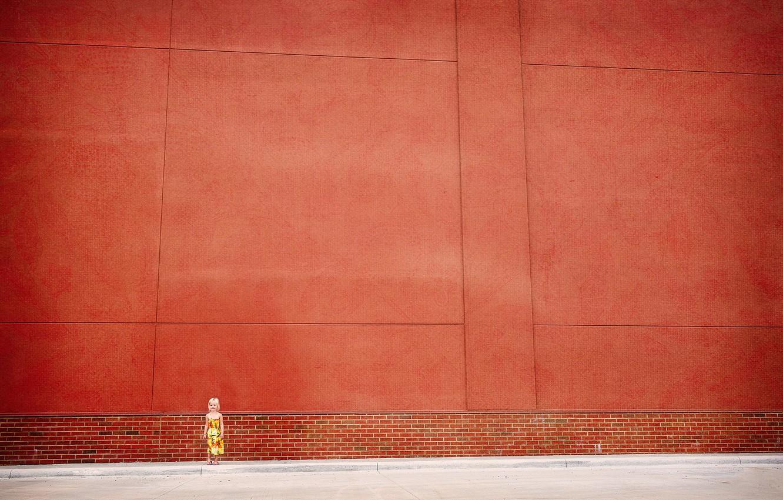 Photo wallpaper wall, street, girl