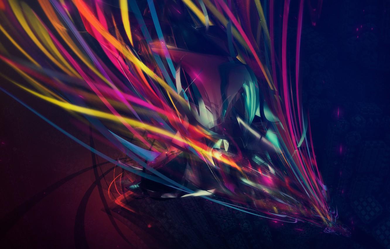 Photo wallpaper line, abstraction, creative, digital art