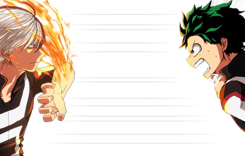 Photo wallpaper anime, art, guys, Boku no Hero Academy, hero Academy