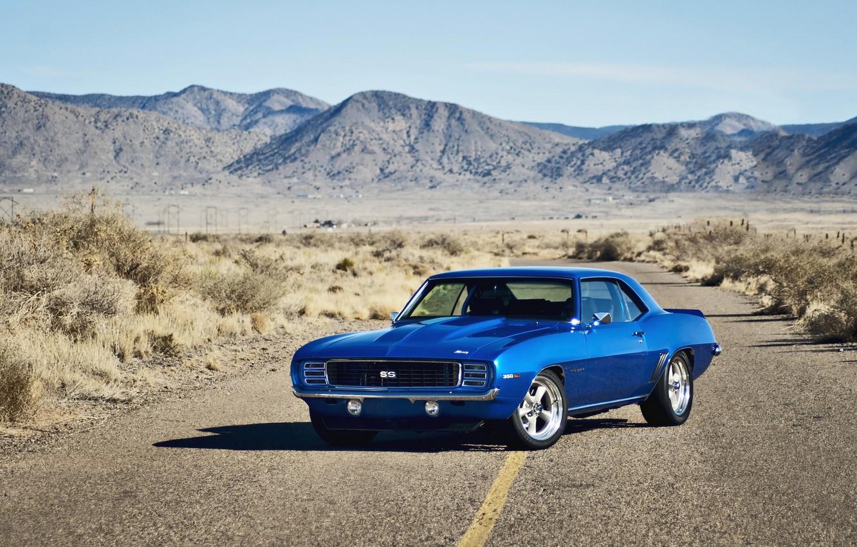 Photo wallpaper Chevrolet, road, muscle car, rechange, chevrolet camaro, lunchbox photoworks