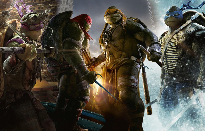 Photo wallpaper Teenage mutant ninja turtles, The film, Mutants, Raphael, Leonardo, Donatello, Donatello, Leonardo, Michelangelo, Teenage Mutant …