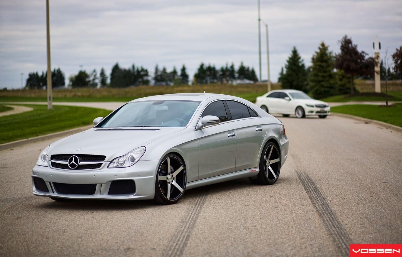 Photo wallpaper silver, Mercedes-Benz CLS, vossen, C-class