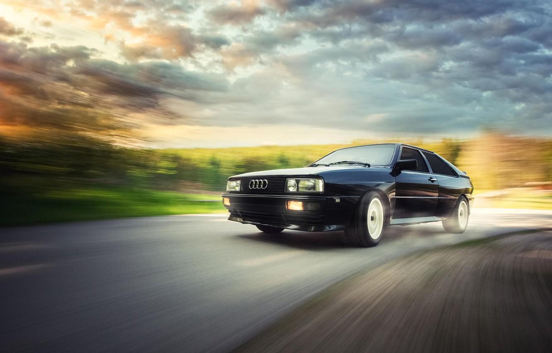Photo wallpaper Audi, Audi, coupe, black, black, Coupe, Quattro, Quattro, UrQuattro, Werner Burgstaller