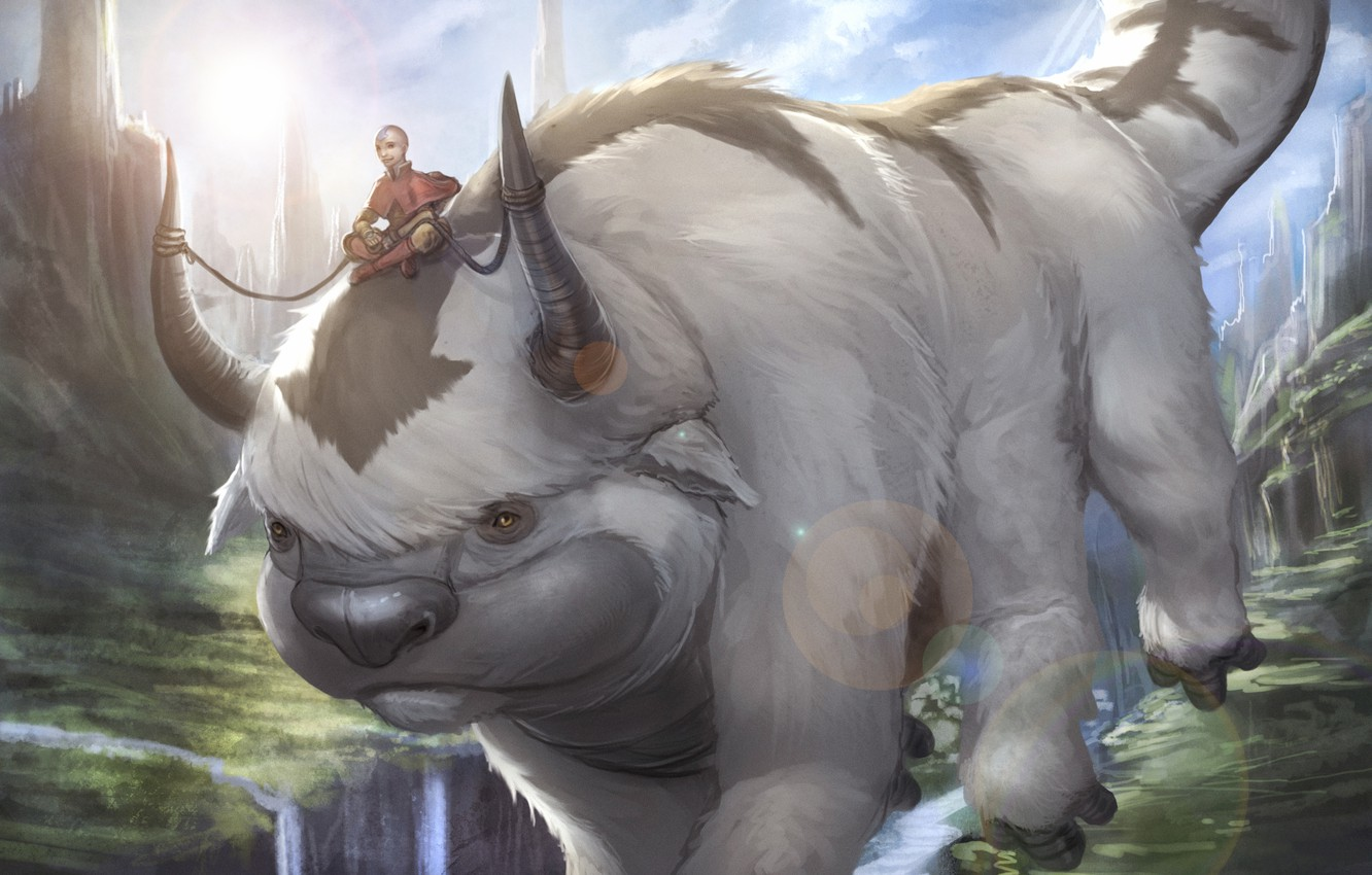 Photo wallpaper Avatar: The Last Airbender, Avatar: The Legend of Aang, aang, appa
