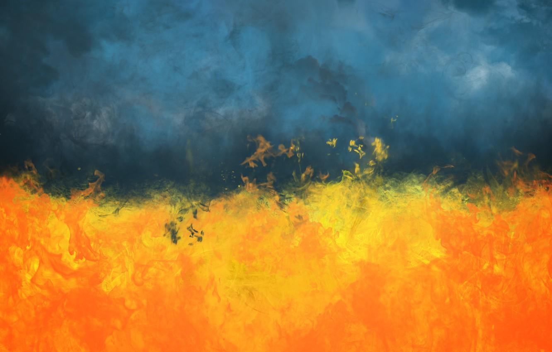 Photo wallpaper Smoke, Fire, Ukraine