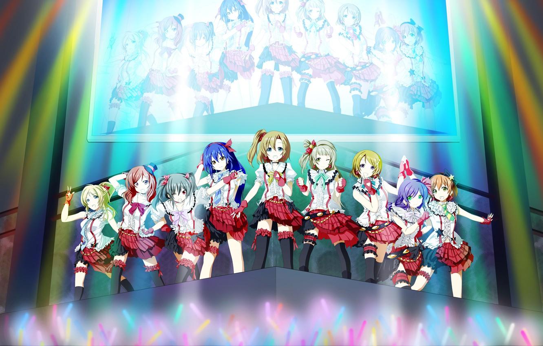Photo wallpaper Ayase Hand, Love Live! School Idol Project, Toujou Nozomi, Kousaka Honoka, Minami Kotori, Sonoda Umi, …