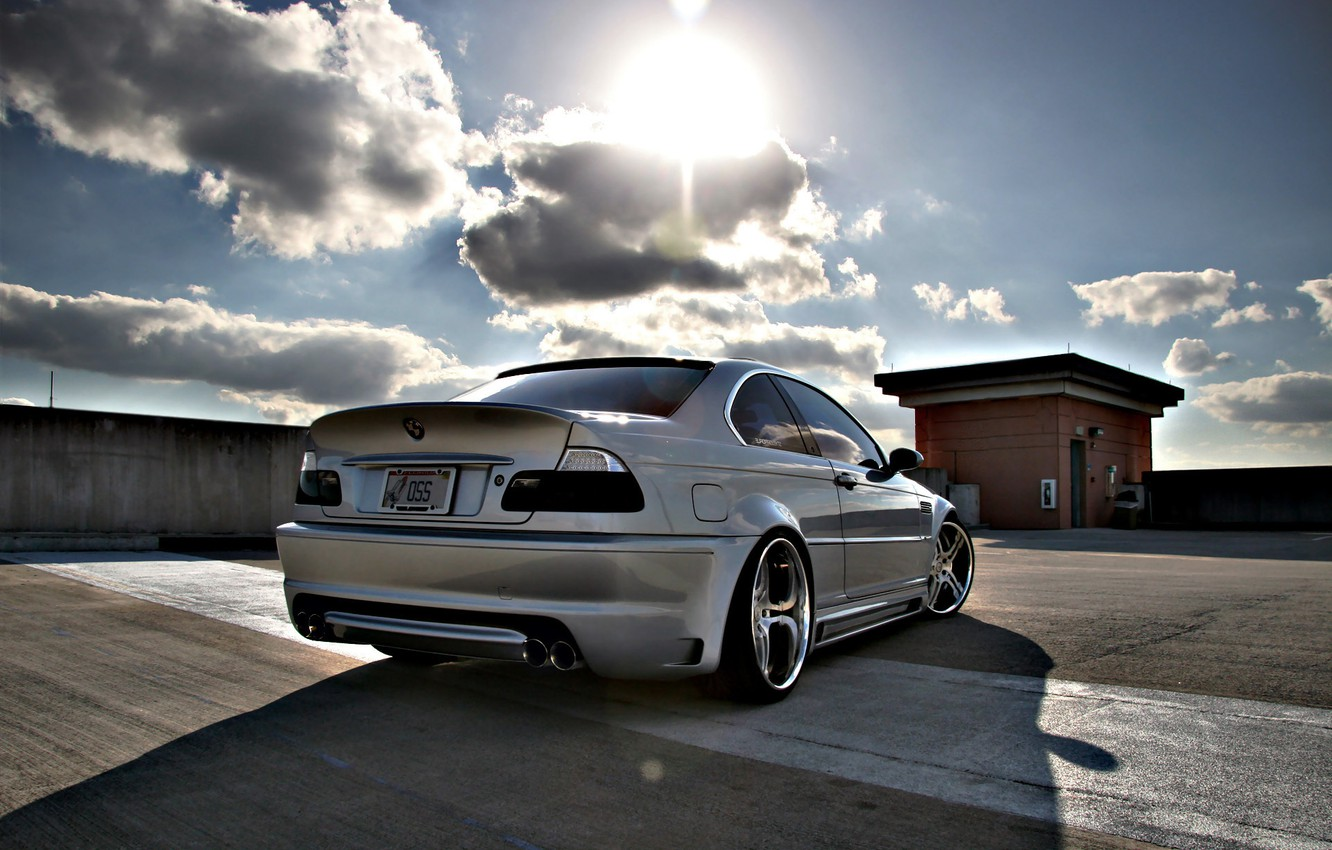 Photo wallpaper roof, tuning, bmw, Parking