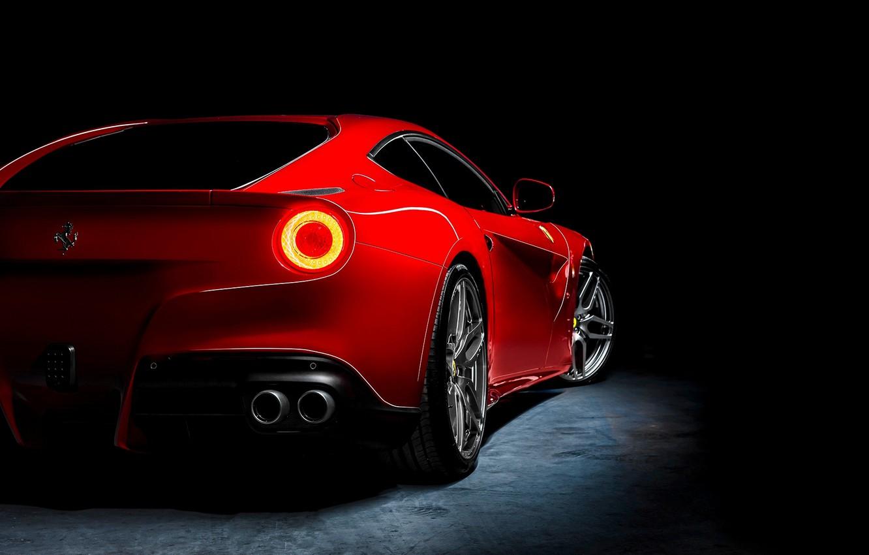 Photo wallpaper red, Ferrari, red, Ferrari, rear, Berlinetta, F12, Kahn Design