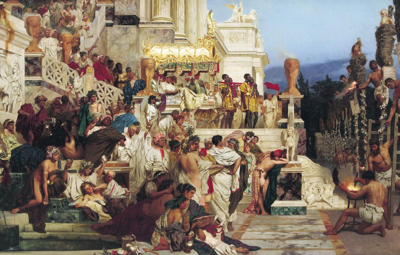 Photo wallpaper people, Rome, Nero