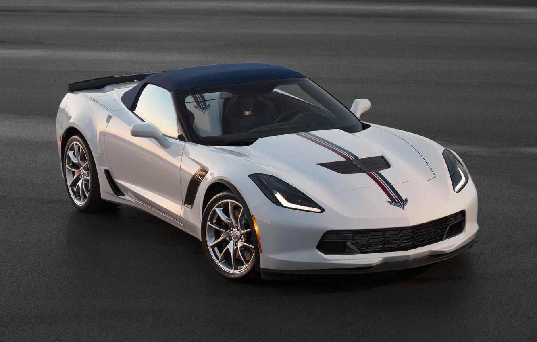 Photo wallpaper Z06, Corvette, Chevrolet, supercar, Chevrolet, Corvette, Convertible, 2015, Twilight Blue Design