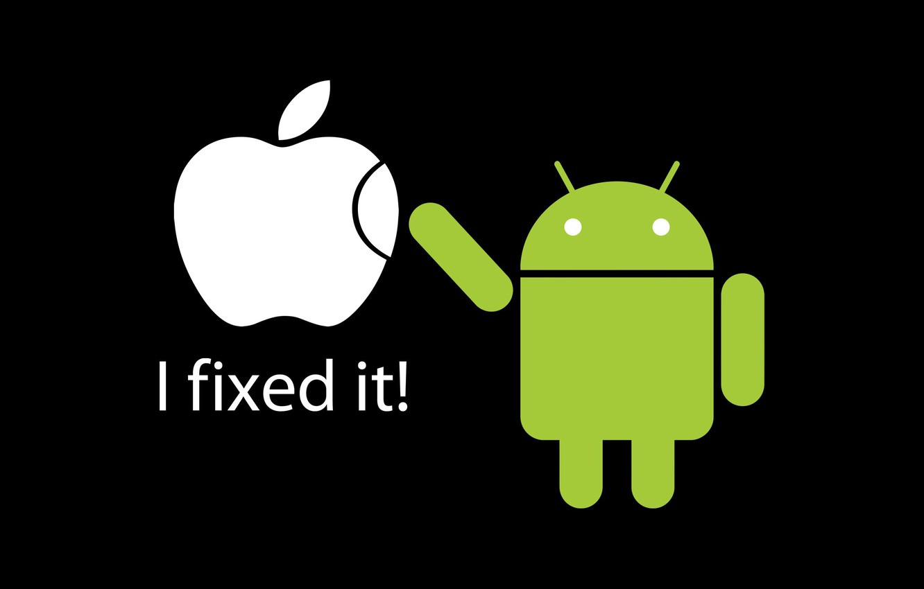 Photo wallpaper apple, Apple, Android, android, fixed it, fixed