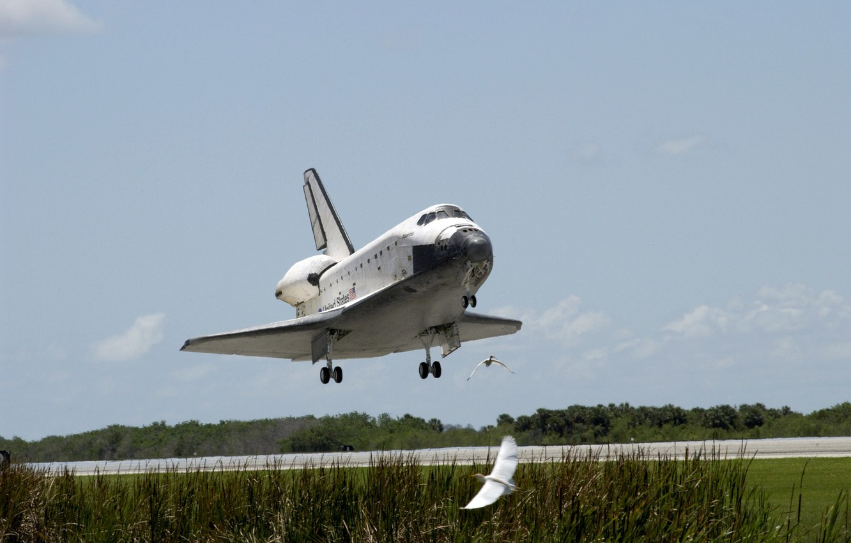 Photo wallpaper space, USA, USA, Shuttle, NASA, Columbia, shuttle