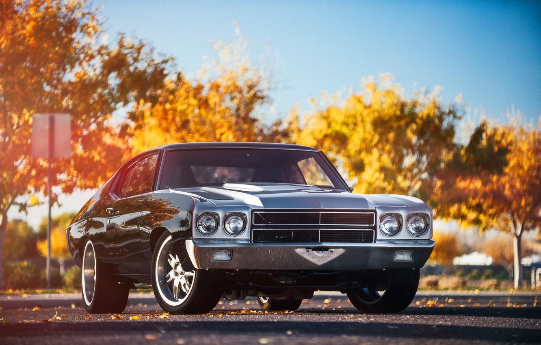 Photo wallpaper Chevrolet, before, Chevrolet, muscle car, Blik, muscle car, front, Chevelle, Shevel