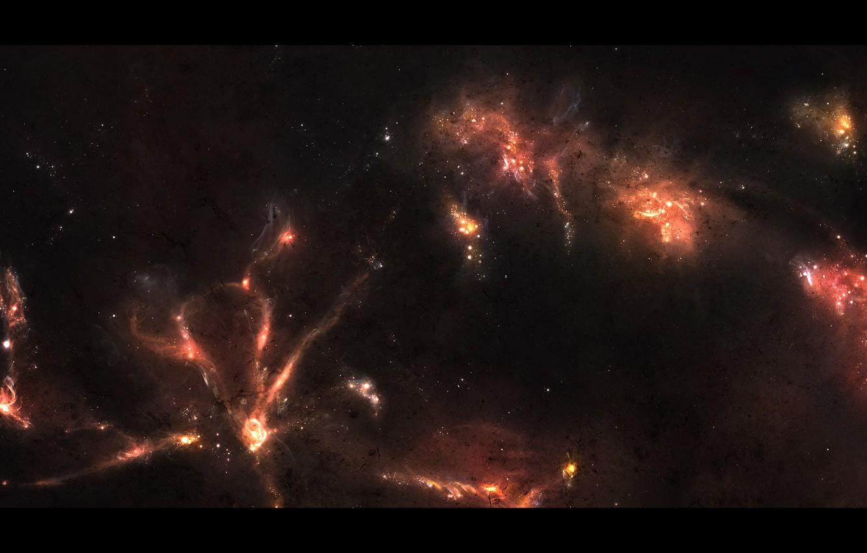 Photo wallpaper stars, nebula, space, glow, constellation