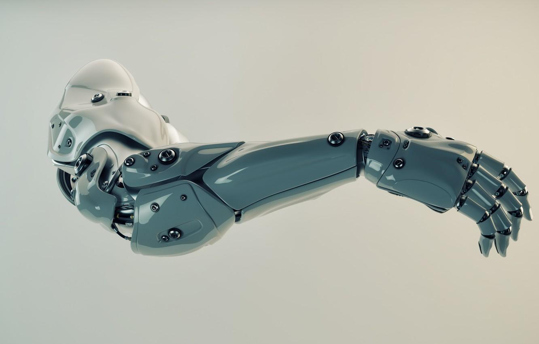 Photo wallpaper background, hand, prosthesis, robotics
