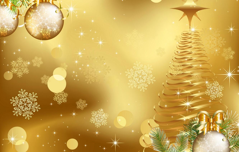 Photo wallpaper balls, snowflakes, balls, graphics, tree, Christmas, New year, tree