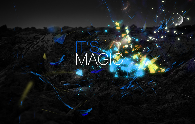 Photo wallpaper squirt, style, magic