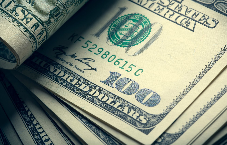 Photo wallpaper green, money, dollar, ink