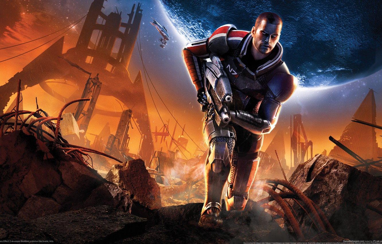 Wallpaper weapons, The ruins, mass effect 2 images for desktop, section  игры - download