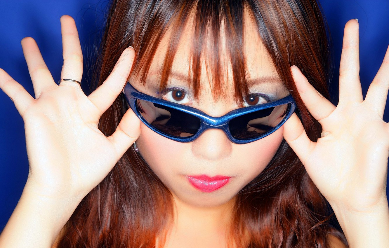 Photo wallpaper look, background, glasses, Asian, girls, asian