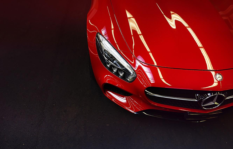 Photo wallpaper Mercedes-Benz, Red, Switzerland, Front, AMG, Supercar, GT S